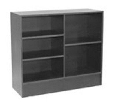 Retail Service Checkout Wrap Counter 70 Display Black Knockdown