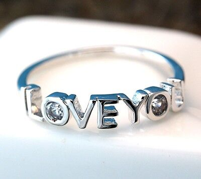 I Love You Letters Ring Infinite Love Best Friend Sister Ring Jewelry Gift (Best Friend Letter Ideas)