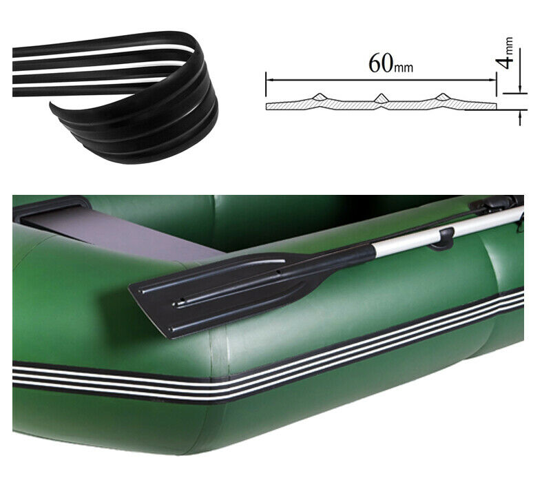 60mm Inflatable boat PVC protective fender guard black/white