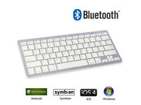 Bluetooth Wireless Keyboard Slim Portable IOS Android Windows Iphone Ipad PC