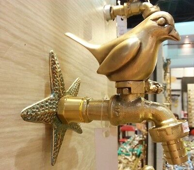 BRASS GARDEN TAP FAUCET NEW BIRD SPIGOT ...