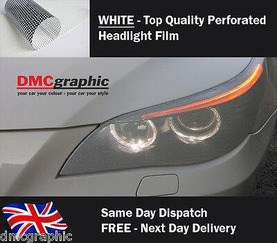 Window Graphic Car Headlight Vinyl Tint Like Fly Eye Mesh Spi Vision Decal White