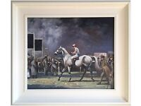 At The Races, Ascot (1963) by A.J.M. (Original Oil Painting)
