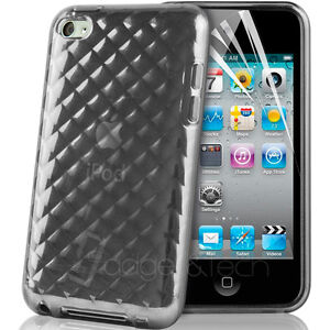 HYDRO GEL SILICONE CASE COVER FOR APPLE IPOD TOUCH 4TH GEN 4G & SCREEN PROTECTOR