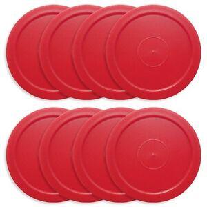 8-RED-AIR-HOCKEY-PUCKS-FOR-HOME-GAMES-2-1-2-DIAMETER