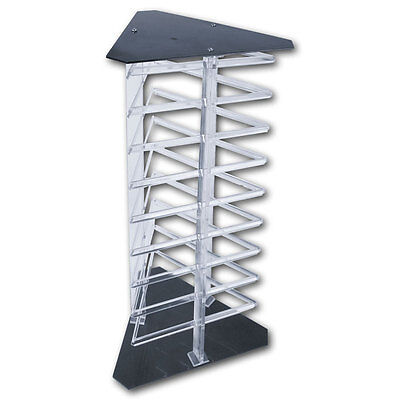 Countertop Revolving Rotating Earring Display Stand Holds 108 2 Cards Clear