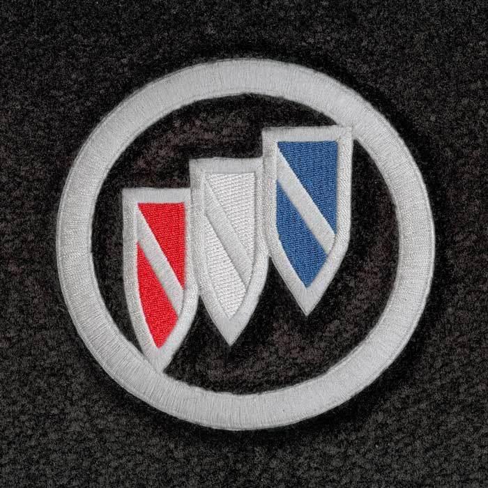 Lloyd Mats Buick Tri Shield Emblem Velourtex Front Floor