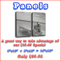 "Giclée Canvas Print Panels!!  Just $19.99 Each! - 12"" x 8"""
