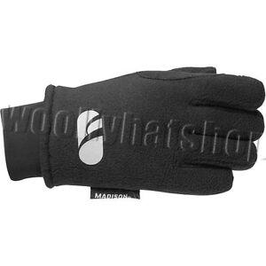 Madison-Element-Fleece-Mountain-Bike-Cycle-Childs-kids-Gloves-Black-LARGE-XLARGE