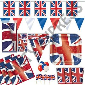 ROYAL-STREET-PARTY-BRITISH-JUBILEE-NAPKINS-PLATES-TABLE-CLOTHS-BUNTING-BALLOONS