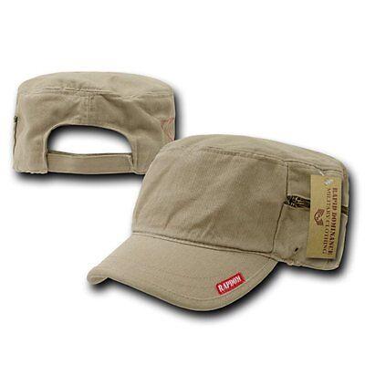 Khaki Gi Patrol Fatique Army Zipper Cadet Flat Top Adjust Bdu Cap Caps Hat Hats