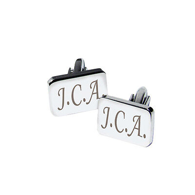 Personalised Rectangle Cufflinks-Free Laser Engraving-Birthday / Wedding Gift