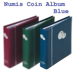 Lighthouse-Numis-Coin-Album-Blue-with-5-free-stock-sheets