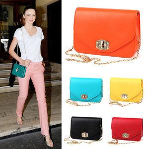 Korea-Style-Womens-High-Quality-Bags-Gold-Chain-Messenger-Cross-Body-Handbags
