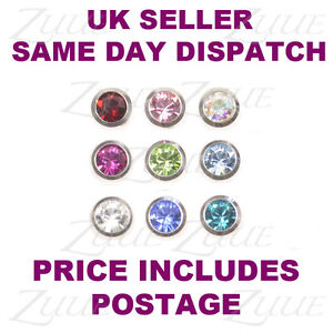 SPARE-PIERCING-BALLS-1-6mm-JEWELLED-9-COLOURS-LIP-LABRET-BELLY-NAVAL-BAR-BODY