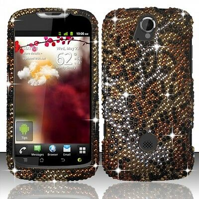 T Mobile Huawei Mytouch Q U8730 Crystal Diamond Bling Case Phone Cover Cheetah