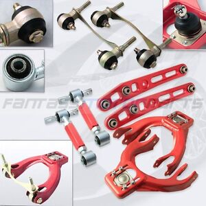 EG-DC2-RED-FRONT-UPPER-CONTROL-ARM-REAR-LOWER-CONTROL-ARM-CAMBER-KIT-BUSHING