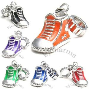 Wholesale-Lot-10pcs-Sneaker-Boot-Shoe-Silver-European-Charm-Beads-For-Bracelet