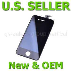 New-Apple-iPhone-4-4G-GSM-Black-Digitizer-LCD-Full-Front-Glass-Assembly-for-AT-T