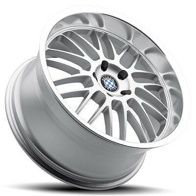 18 Staggered Silver Beyern Mesh Wheels Rims 5x120 Bmw 3 Series E90 E92 335 328