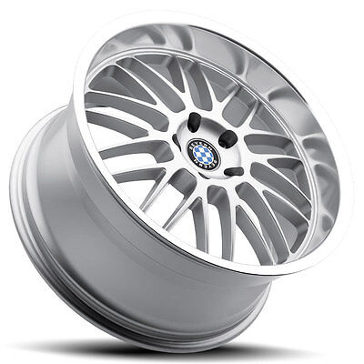 18 Staggered Silver Beyern Mesh Wheels Rims 5x120 Bmw 5 Series E39 E60