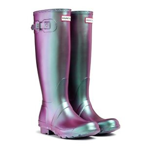 Hunter-Original-Pearlescent-Wellington-Boots-Pearl-Green-UK-3-Eu-35-36-Wellies