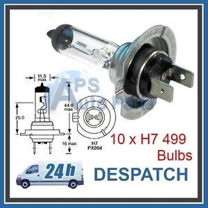 10-No-H7-499-Halogen-Headlight-Car-Bulbs-12v-55w-PX26d-High-Quality