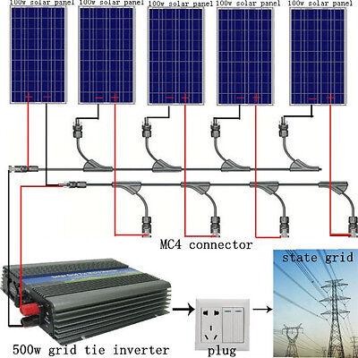 500w 5 100w Pv Solar Panel Kit 500watt Poly Solar Module