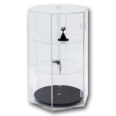 Counter Top Display Revolving Acrylic Display Showcase Display Rotating Case