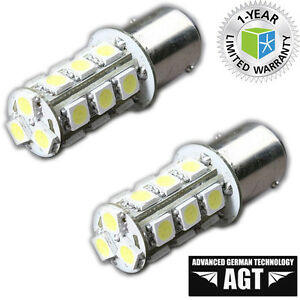 1157-Bay15D-MOTORCYCLE-LED-BRAKE-STOP-LIGHT-BULBS-Pair-Pack-of-2
