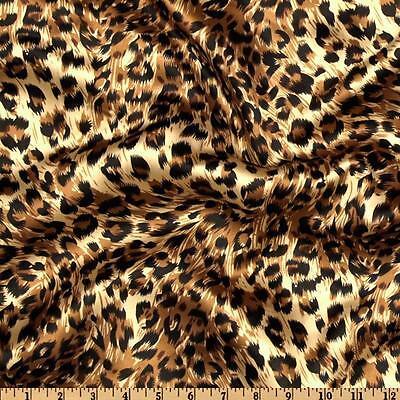 30 Rectangular 60x126 Cheetah Leopard Satin Tablecloths Animal Print Silk