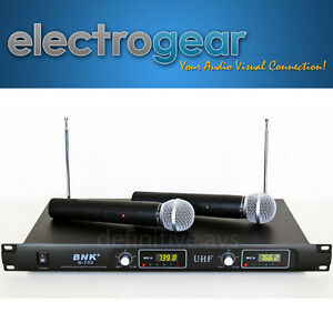 DUAL-PROFESSIONAL-UHF-WIRELESS-MICROPHONE-karaoke-dj