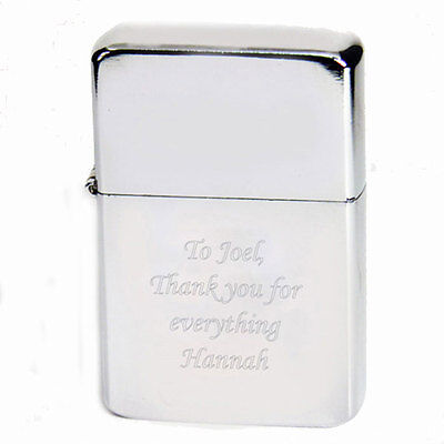 Personalised Silver Lighter - Free Laser Engraving - Ideal Birthday Gift