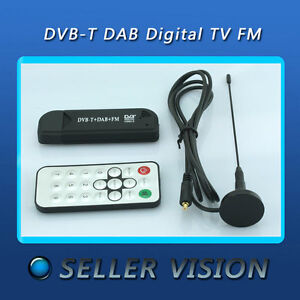Cheap FM + DAB USB DVB-T DAB Digital TV RTL2832U + R820T w/ MCX antenna BD