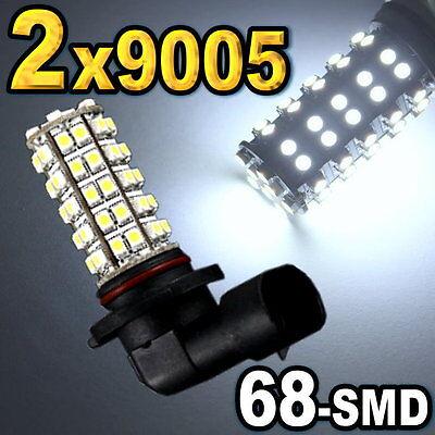 2x 9005 Super White 68-SMD LED Bulbs For Daytime Running Light