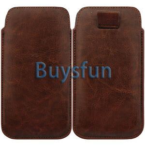 Brown-PULL-TAB-LEATHER-POUCH-CASE-COVER-SKIN-For-Samsung-Galaxy-S3-i9300