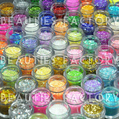 84 X Glitter Powder Mylar Crushed Shell Ice Strips Sheets 423