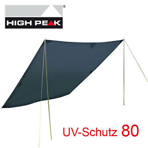 high peak solar tarp 4x4 m sonnensegel sonnenschutz 1000mm ws uv schutz 80 ebay. Black Bedroom Furniture Sets. Home Design Ideas