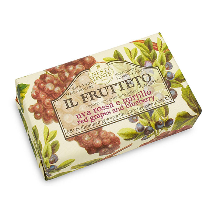 Nesti Dante Bar Soap Il Frutteto Red Grapes & Blueberry Body and Bath Natural by