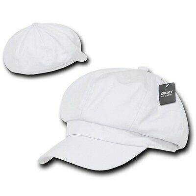 White Applejack Newsboy Cabbie Gatsby Golf Driving Ivy Hat Hats Cap Caps L/xl