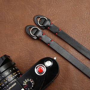 Handmade Universal Genunie Leather camera neck strap for Leica Pentax Nikon Sony
