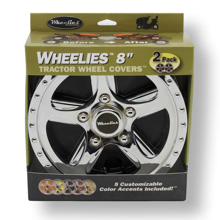 2 Wheelies Lawn Garden Tractor Wheel Covers Hub Caps For 8 Tires Gv188