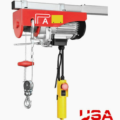 Engine 440lb Electric Motor Overhead Garage Hoist Crane Lift Wemergency Stop Hp
