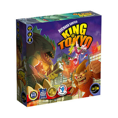 Play mutant monsters, gigantic robots and other monstrous creatures, rampage the city and become the King of Tokyo!