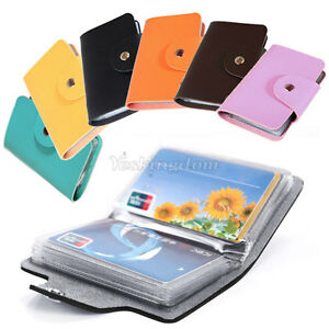 New-24-Cards-Pu-Leather-Credit-ID-Business-Card-Holder-Pocket-Wallet-Hot