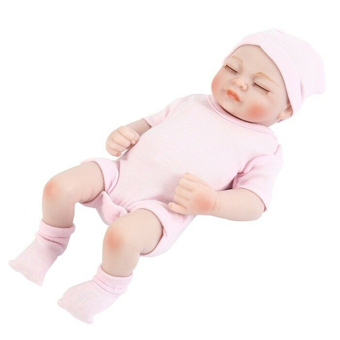 Baby Doll Newborn Toy Soft Vinyl Silicone Lifelike For Girl Kid Birthday Gift