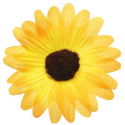 24 x Gelbe Streu Blumen, je 5 cm, wunderschöne Tischdeko für Hochzeiten & Co.