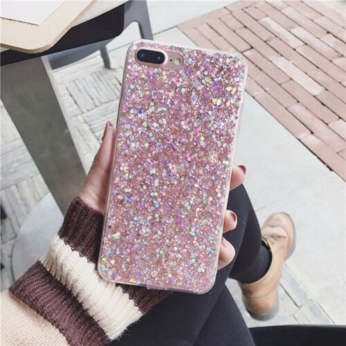 4 Colors/ Bling Silicone Glitter ShockProof Case Cover For iPhone XS MAX 6 7 X 8