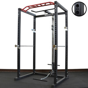 BRONSON Power Rack with Lat and Row Attachment