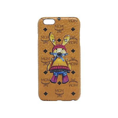 MCM Apple Iphone 6+ Case Rabbit Coated Canvas Material MZE6SXL90CO Cognac Color